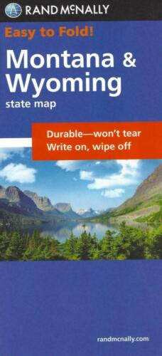 Montana & Wyoming, Easy-to-Fold, Laminated State Map, by Rand McNally
