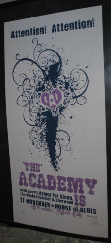 The Academy Is... Cleveland 2008 concert poster #/69 Armor For Sleep art print