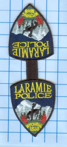 Police Patch  - Wyoming - Laramie Police 2868 Key Chain Tag