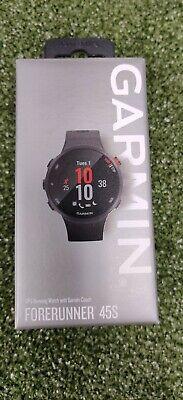 New Garmin Forerunner 45S GPS Running Watch W/Garmin Coach Black