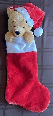 Vintage Disney Christmas Stocking - Plush 3D Winnie the Pooh
