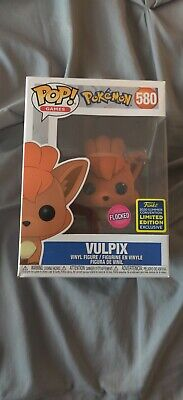 Funko Pop! Games. Pokémon. Vulpix. #580. FLOCKED Exlusive!