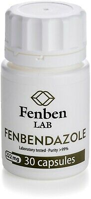 Fenbendazol 222mg Purity 99 Fenben Lab Third-party Test Results 30 Capsules