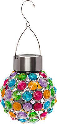 GreenLighting Outdoor Solar Hanging Lights Decorative Ball L