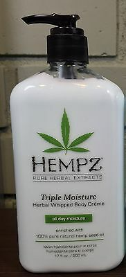 Hempz Triple Moisture Herbal Whipped Body Lotion Creme 17oz W/ PUMP -NEW & FRESH ()