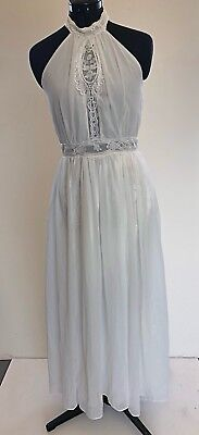 White Maxi Dress with Lace Inlay - Size 12 - BNWT, used for sale  Shipping to Canada