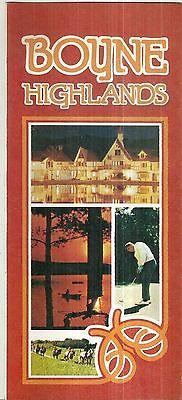 Vintage Brochure for Boyne Highlands Harbor Springs Michigan Skiing