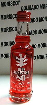 ABSENTA 40ml 80 miniatura mignonette mini bottle flaschen SPAIN RED ABSINTHE
