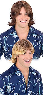 Blonde Surfer Wig (Adult Blonde Brown Ladies Man Surfer Dude Beach Bum Hippie Costume Wig)