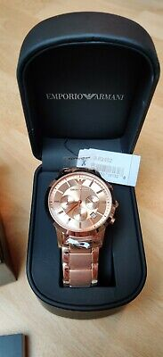 Emporio Armani Unisex Uhr AR2452 rosegold Chronograph Klassik NEU OVP
