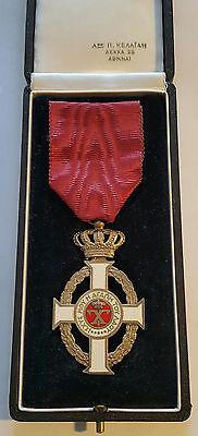 GREECE GREEK Medal / Royal Order of King George I Knight's Cross by Kelaidis !!