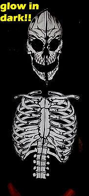 New Kids Glow in Dark Skeleton Hoodie Zip Up Skull Mask Costume Halloween SALE](Kids Skull Mask)