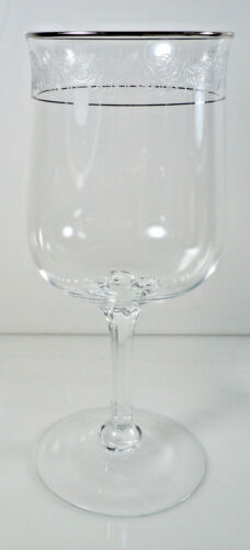 Lenox Moonspun Water Goblet Platinum Trim