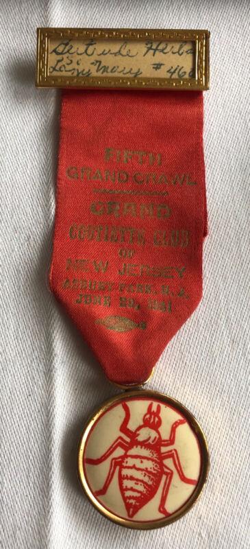 VINTAGE MEDAL RIBBON PIN ASBURY PARK - 1951