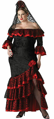 Senorita Adult Womens Costume Plus Size Elite Collection Gown Halloween 2X 3X - 3x Halloween Costume Womens