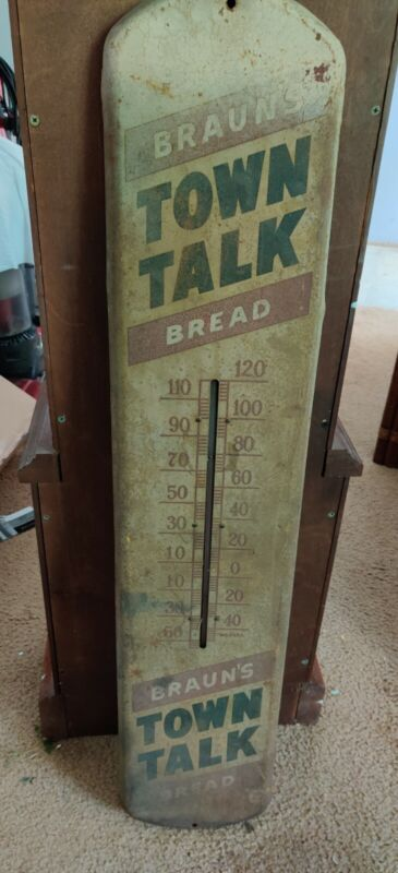 ANTIQUE BRAUNS TOWN TALK BREAD THERMOMETER