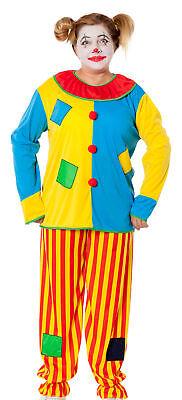 Damen Herren Clown Kostüm Harlekin Narr Zirkus Clownkostüm Halloween Party