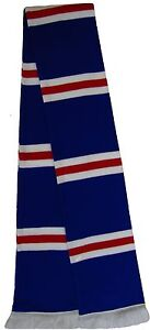 Rangers style Royal Blue, Red, and White Retro Bar Scarf