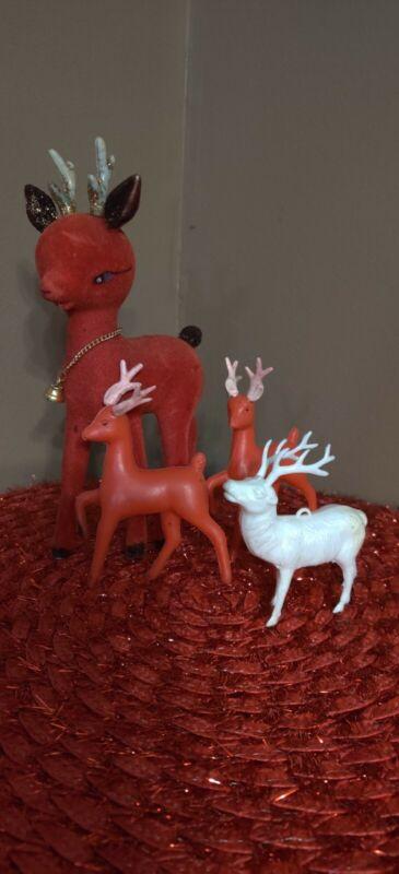 Vintage Reindeer Lot Of 3