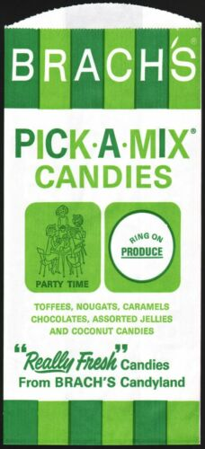 Vintage bag BRACHS Pick-A-Mix Candies with recipe unused new old stock n-mint