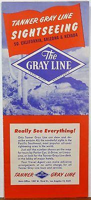 1950's So. California Arizona Nevada vintage Gray Line Tours brochure and map b