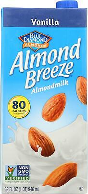 Almond Breeze-Almond Milk -Vanilla, Pack of 3 ( 32 FZ ) Almond Vanilla Milk