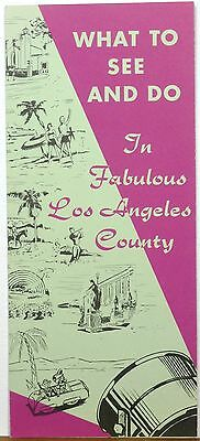 1957 Los Angeles County California what to do and see vintage tourist brochure b