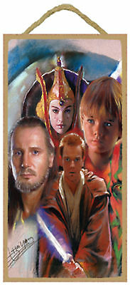 Star Wars featuring the artwork of Haiyan Wood Sign Plaque Made in USA