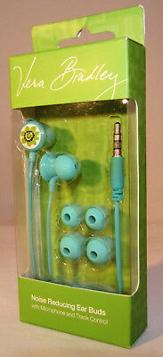 VERA BRADLEY NOISE REDUCING EAR BUDS LIMES UP 12494-123 EAR PHONES SM MED LG NEW ()