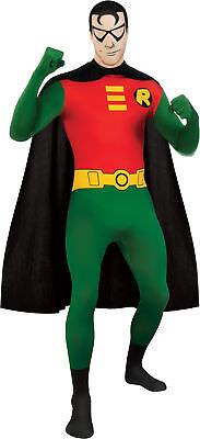 Robin Skin Suit Adult Mens Costume DC Comics Batman Body Suit Halloween](Halloween Batman Suit)