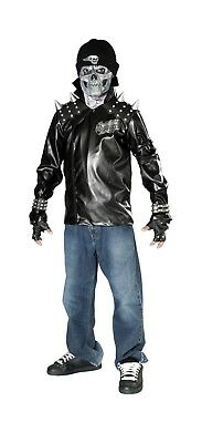 Dead City Choppers Kids Metal Skull Biker Costume - Rubie's