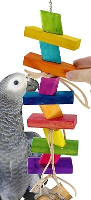1079 BIG Chunky Step Bird Toy parrot cage toys cages african grey cockatoo
