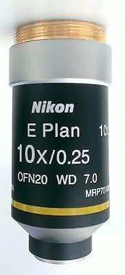 Nikon 10x E Plan Microscope Objective Lens