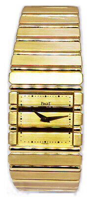Piaget Mens Polo 18k Yellow Gold Quartz Watch 7131 C 701