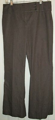 Women's Dalia Collection Career Pants - Flared bottom - Size 10 - Brown - (Dalia Brown)