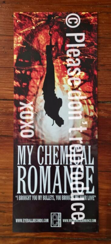 Vintage My Chemical Romance I Brought You My Bullets Locker Poster Original