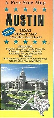 Street Map of Austin, Texas, by Five Star Map (2013)