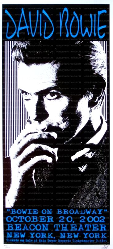 David Bowie Concert Poster 2002 New York City