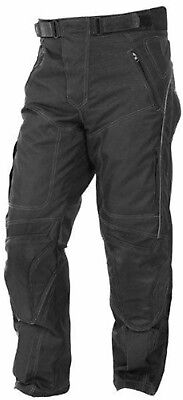 Motorcycle Motorbike Waterproof Cordura Textile Trousers Pants Armor Black Cordura Motorcycle Pants