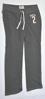 Woman's HOLLISTER Grey Sweat Pants Bottoms Cotton Blend Junior Size Large L