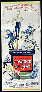 ADVANCE-TO-THE-REAR-Glenn-Ford-VINTAGE-Australian-daybill-Movie-poster
