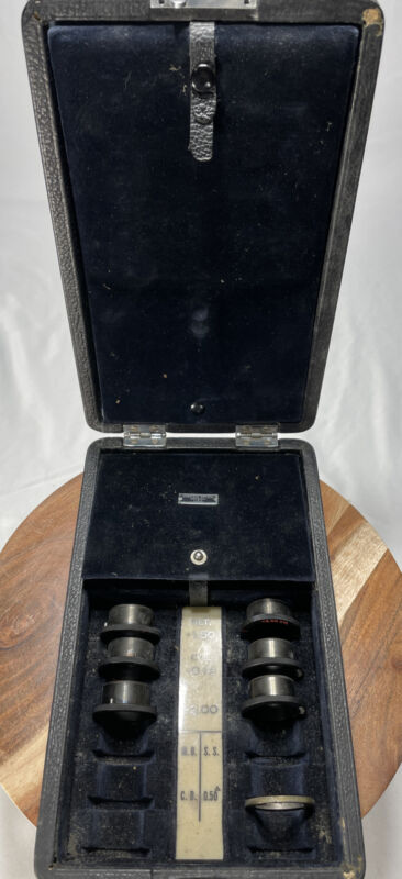 Vintage American Optical Phoropter Lens and Cylinder Kit 6 Lenses Made In USA