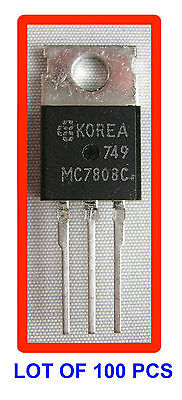 Voltage Regulator Mc7808c Lot Of 100 Pcs