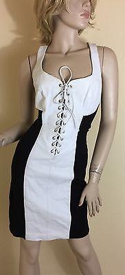 Wilson Leather White & Black Corset Dress Size S