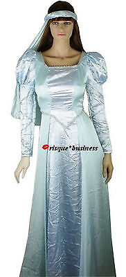 Medieval Elsa Frozen Cinderella Game of Thrones Dress Gown Costume 8 10 12 14 16