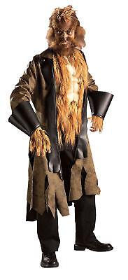 Groß Verrückt Wolf Erwachsene Herren Kostüm Langer Mantel Halloween Rubies Norm