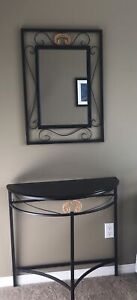 Mirror with matching half moon table - Moving  PENDING