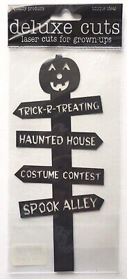 Halloween Sign Post (NIP HALLOWEEN SIGN POST DELUXE CUTS LASER DIECUT HAUNTED HOUSE SPOOKY)