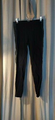 J. Crew 0 pixie leather leggings ponte black career work skinny pants FLAW