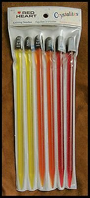 Red Heart Crystalites Knitting Needles 10
